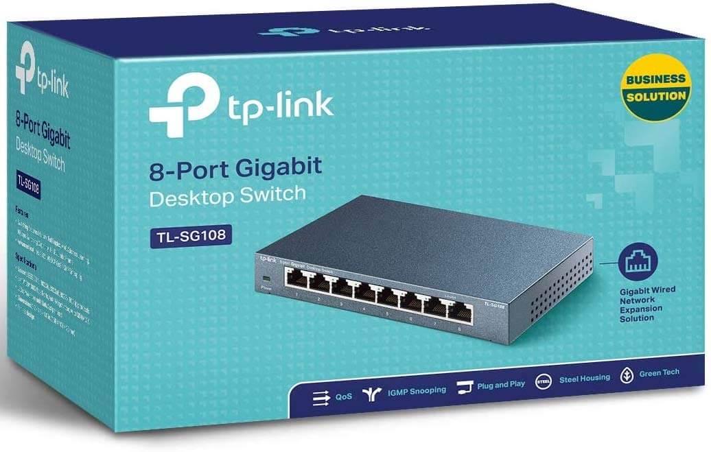 TP-Link TL-SG108 8 Port Gigabit Ethernet Network Switch