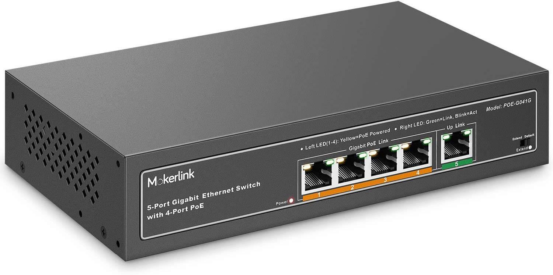 MokerLink 5 Port Gigabit POE Switch