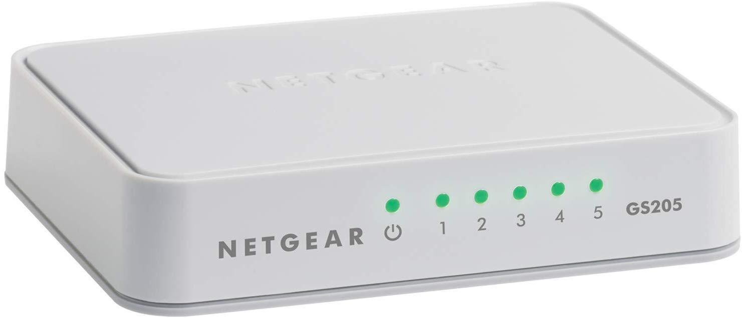 NETGEAR GS205 5-Port Gigabit Ethernet Switch